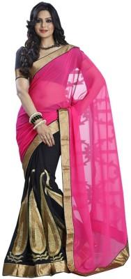 RZ Fashion Plain Fashion Chiffon Sari