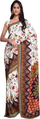 Go Traditional Printed Fashion Silk Sari