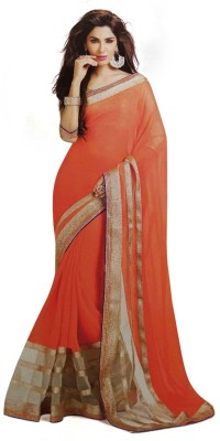 Kanha Fashionna Plain Bollywood Chiffon Sari