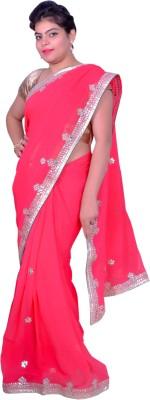 Prishi Impex Self Design Bollywood Pure Georgette Sari