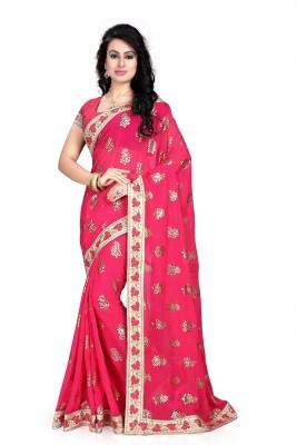 Hari Krishna sarees Embriodered Fashion Chiffon Sari