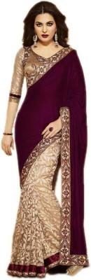 Shahlon Embellished Bollywood Velvet Sari