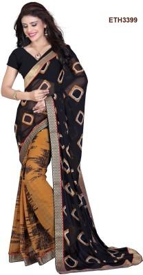 Sahaj Creation Graphic Print Bollywood Cotton Sari