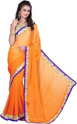 Kuki Fashion Plain Daily Wear Jacquard Sari