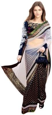 Sanjana2SwarupaFashion Solid Bollywood Net Sari