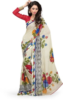 Krisha Fashion Floral Print Daily Wear Georgette Sari