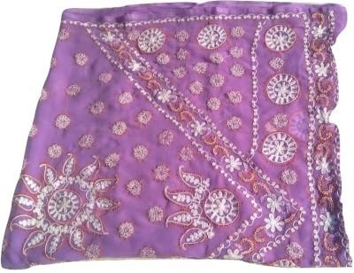 Royera Embriodered Lucknow Chikankari Georgette Sari