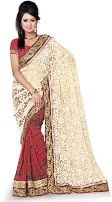 Aanchal Fashion Self Design Fashion Brasso Sari