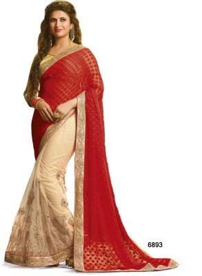 Sarees House Self Design, Embriodered Bollywood Jacquard, Net Sari