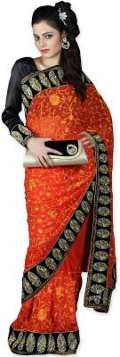 Shivam Fashions Self Design Fashion Chiffon Sari