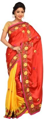 Charvi Embriodered Fashion Handloom Satin Sari