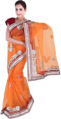 Indiangiftemporium Embriodered Daily Wear Handloom Net Sari
