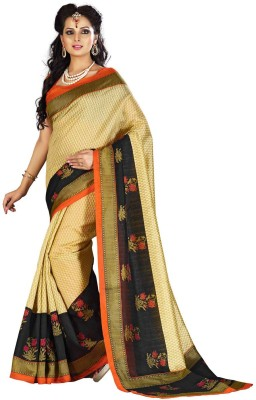 Festivemall Printed Daily Wear Silk Sari