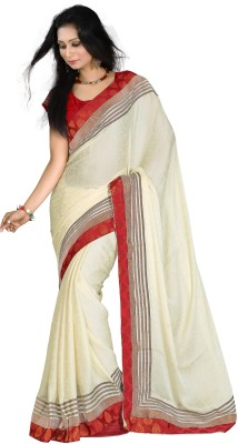 DESIGN WILLA Plain Bollywood Jacquard Sari