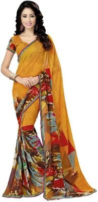 Kintu Designs Pvt. Ltd. Self Design Fashion Georgette Sari