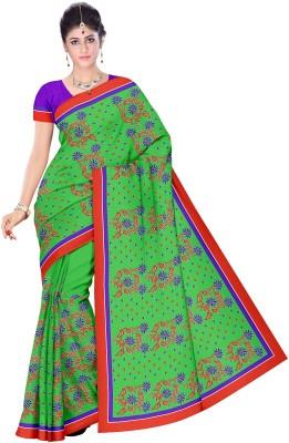 Cynthia Lifestyle Floral Print, Self Design, Embriodered Fashion Net Sari