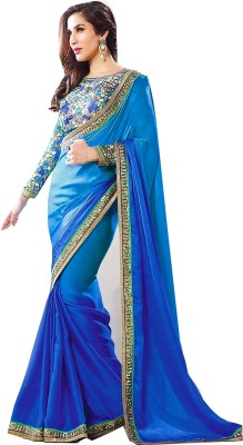 Jhalak Embellished, Embriodered, Self Design Bollywood Georgette Sari