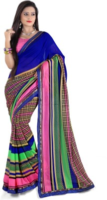 Bapa Sitaram Checkered Fashion Chiffon Sari