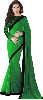 Fabaron Enterprise Plain Bollywood Georgette Sari