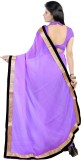 Aruna Sarees Solid Bollywood Chiffon Sar...