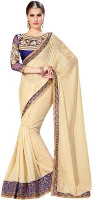 Radhika Creation Self Design Fashion Georgette Sari