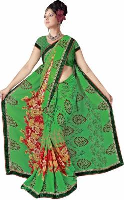 Rinkle Printed Daily Wear Chiffon Sari