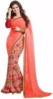 PRN Floral Print Bollywood Georgette Sari
