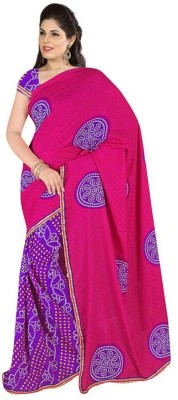 Friendlyfab Printed Bandhani Georgette Sari