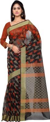 Inddus Woven Fashion Art Silk Saree(Black) at flipkart