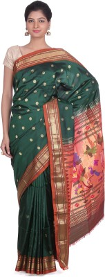 Indian Artizans Woven Paithani Pure Silk Sari