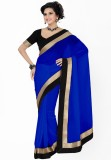 Navyou Solid Fashion Georgette Saree (Bl...