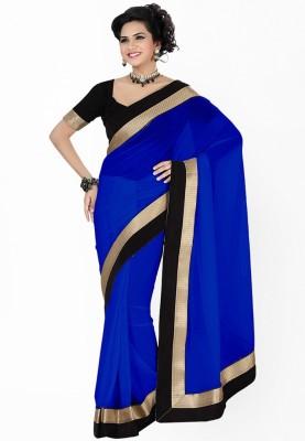 Navyou Plain Fashion Georgette Sari