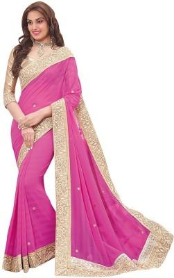 Indian Pahnaav Embriodered Bollywood Handloom Pure Georgette Sari