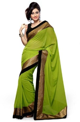 MyDeal Floral Print Daily Wear Georgette Sari