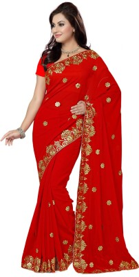 Saree Swarg Embriodered Bollywood Georgette Sari
