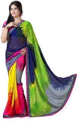 Richa Geometric Print Fashion Georgette Sari