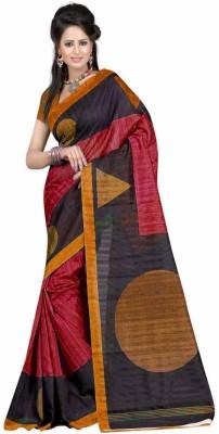 Surattexfab Printed Bhagalpuri Art Silk Sari