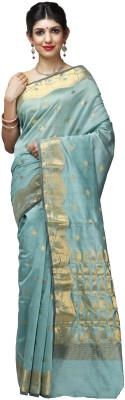 Shloka Woven Banarasi Handloom Polycotton Sari