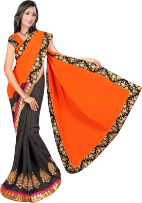 Aakriti Sarees Embriodered Fashion Handloom Chiffon Sari