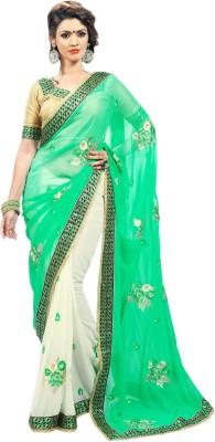 Admyrin Self Design Fashion Chiffon, Georgette Sari