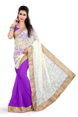 KumarSarees Self Design Fashion Net Sari