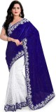 Mert India Solid Fashion Velvet Saree (B...