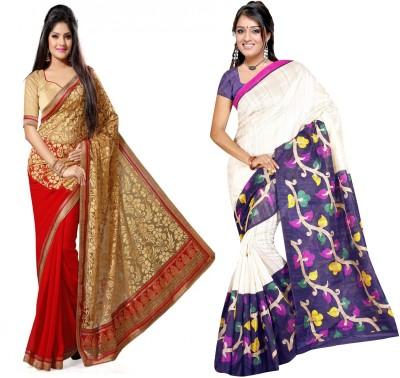 Indian E Fashion Embriodered, Plain, Striped Chanderi Brasso, Cotton Sari