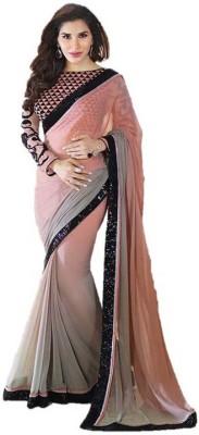 Lime Fashion Embriodered Fashion Handloom Georgette Sari