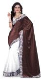 JENNY Solid Bollywood Velvet Saree (Brow...