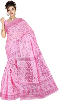 revathi textiles Printed Gadwal Cotton Sari
