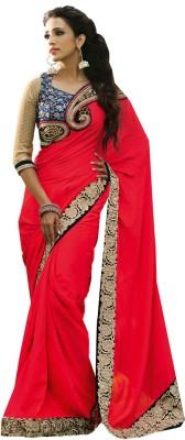 Charu Boutique Embriodered Fashion Handloom Crepe Sari