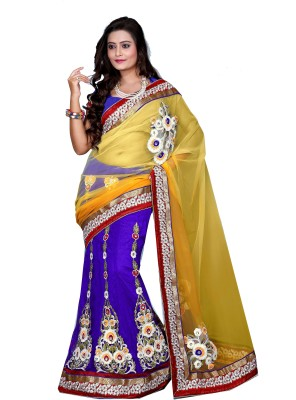 Aanchal Fashion Self Design Fashion Net Sari