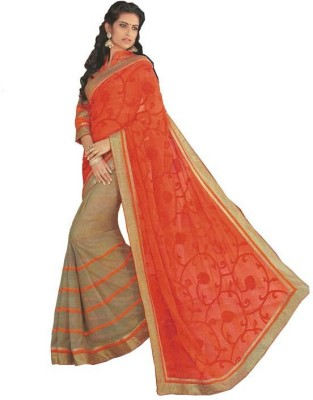 Vivacity Solid Bollywood Synthetic Sari