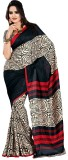 Saran Printed Fashion Art Silk Saree (Mu...